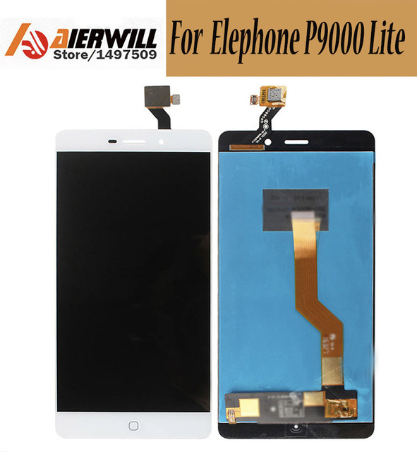 100% NEW For Elephone P9000 Lite LCD Display + Touch Screen Digitizer  Assembly Replacement Repair Accessories for Elephone P9000-in Mobile Phone  LCDs