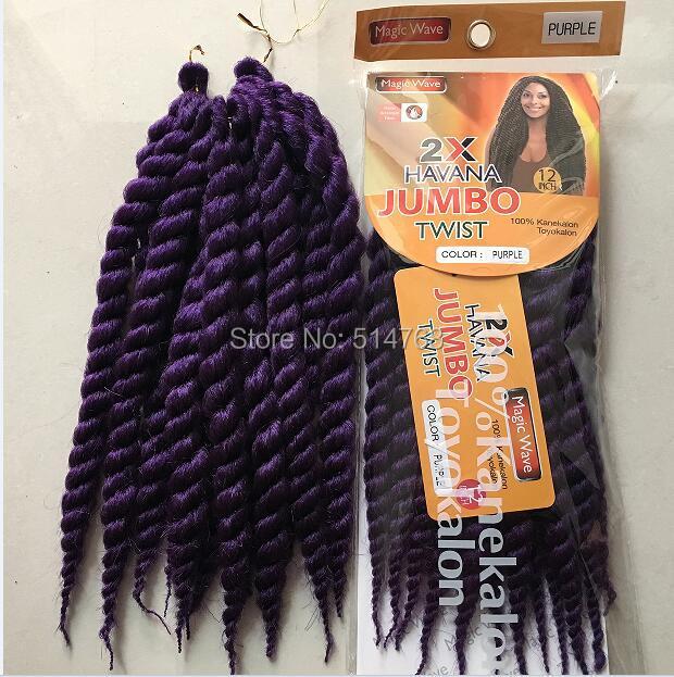 Free Shipping 90g Pack 12 Havana Mambo Twist Crochet Braid Hair Marley Twists