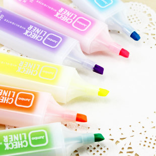 Fresh candy color scrub large capacity neon pen marker pen novelty stationery 20g korea