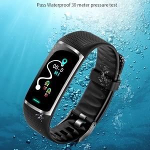 Image 5 - SKMEI inteligentna bransoletka sport tracker fitness 24 godzin monitor pracy serca, IP67 głębokie wodoodporna Super długi czas czuwania Smartband B32