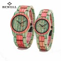 2016 Completo De Bambú BEWELL Reloj de Mujer de Marca de Lujo Nueva Natural Reloj de cuarzo Mujeres Del Reloj de Reloj de Madera de Bambú de Madera Para El Amor de regalo