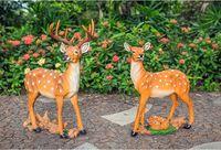 artificial vivid sika deer model Environmental resin garden decoration Sculpture handicraft,Pastoral toy gift a0177