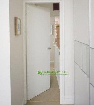 Белые заподлицо межкомнатные деревянные двери, современные заподлицо двери, квартира внутренние двери для продажи