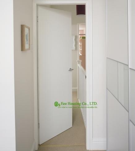 blanco empotrado puertas interiores de madera modernas puertas lisas apartamento puertas de interior para