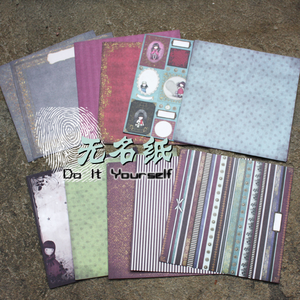 DIY Scrapbooking Kit 6inch Pad Paper Pack Charm Scottish Striped Girl Retro Paper Kit Scrapbooking Background Paper Art Crafts
