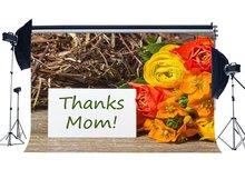 Happy Mothers Day ฉากหลังขอบคุณ Mom ฉากหลังสดคาร์เนชั่นดอกไม้ Rustic Wood Plank การถ่ายภาพพื้นหลัง