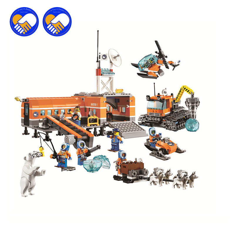 (A Toy A Dream)Original 10442 Compatible Lepin City figures Brick Arctic Base Camp 60036 Building Blocks Model Toys For Children bela 10439 compatible lepin city arctic helicrane building blocks policeman figure toys for children girls