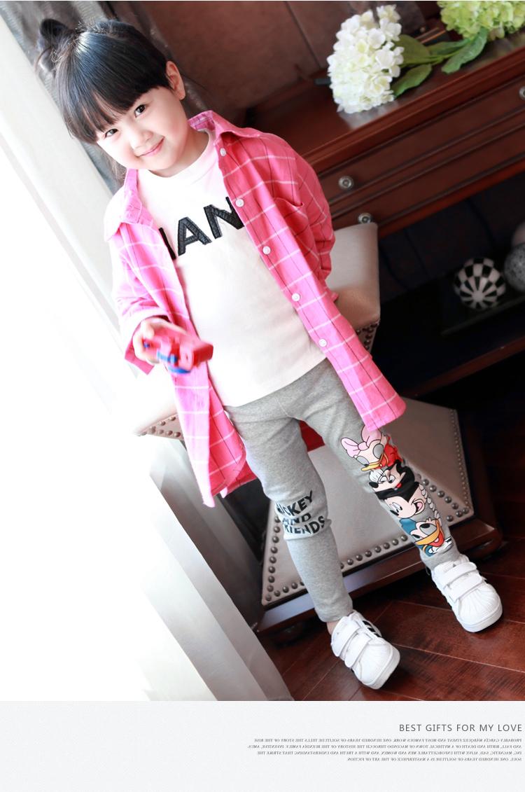 Fashion Cotton mickey Girls Pants Cartoon minnie Girl Leggings Baby Pants Kids Trousers Children Legging Girl Clothing 4 colors 7