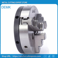 K01 63 63mm 3 jaw chuck 2.5 inch linkage,manual chuck threaded hole fou mini lathe woodworking, machine tool accessories