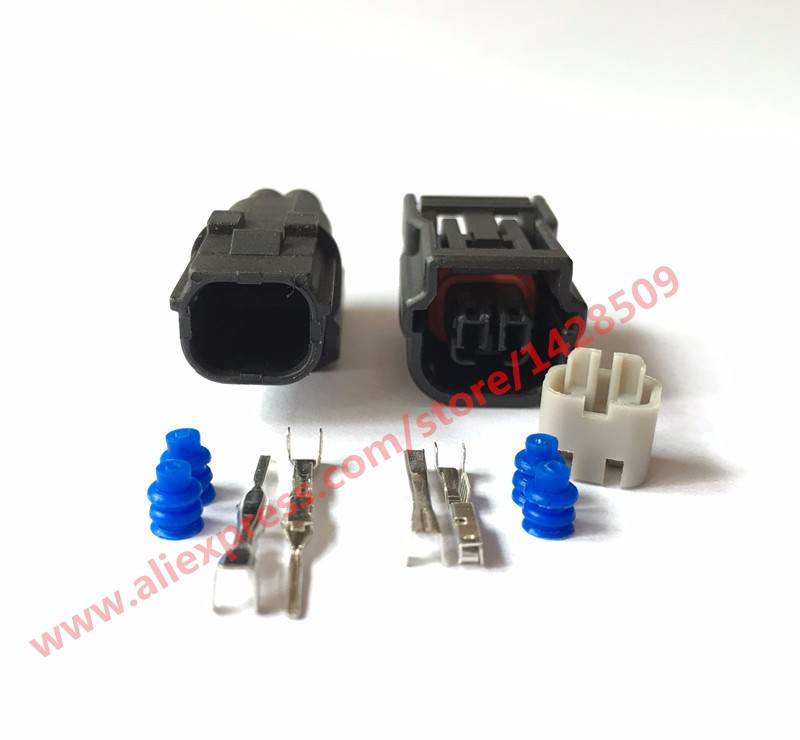 20 Sets 2Pin Sumitomo HV 040 Female Male Auto Connector ABS Sensor Plug Press Switch Ignition