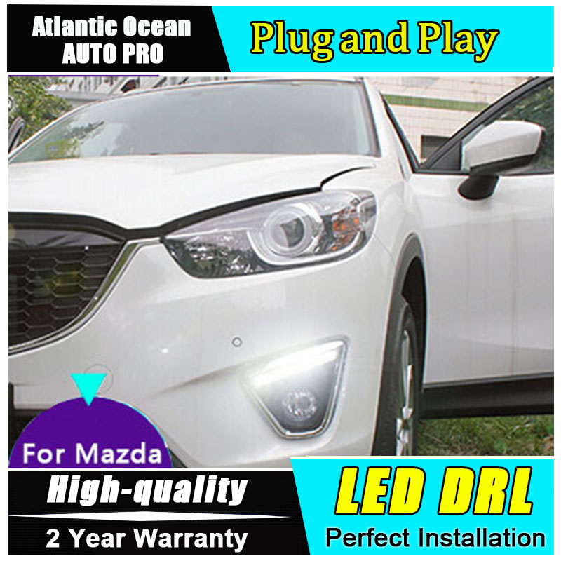 JGRT for Mazda CX-5 LED daytime running lights Car Styling For CX-5 LED DRL parking driving fog lamp lens Accessories jgrt 2011 for nissan sentra fog lights led drl turnsignal lights car styling led daytime running lights led fog lamps