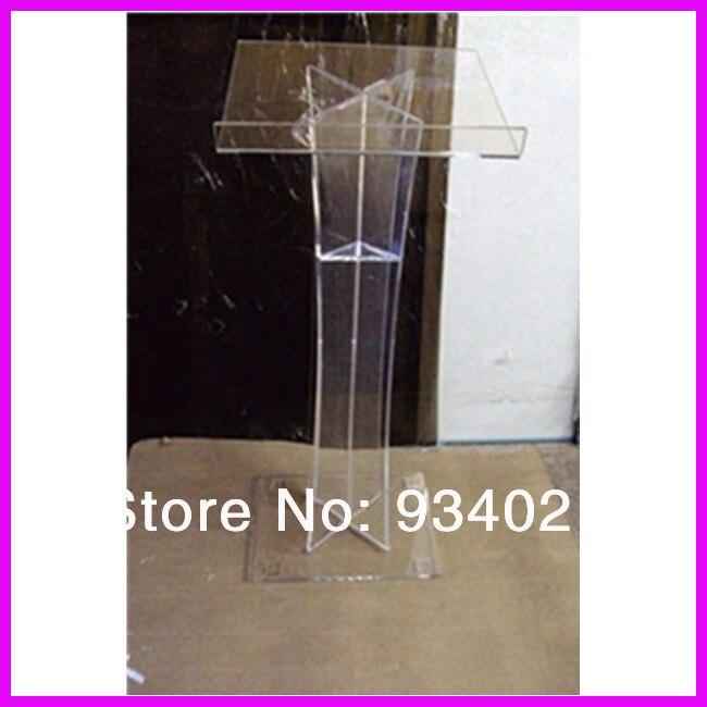 Clear Acrylic Podium Pulpit Lectern, Plexiglass Lecten