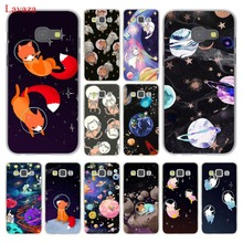 Фотография cat Astronaut dog fox Space Moon universe Hard Case Cover for Galaxy A3 A5 J5 (2015/2016/2017) J7 & Note 4 3 & J3 J5 Prime