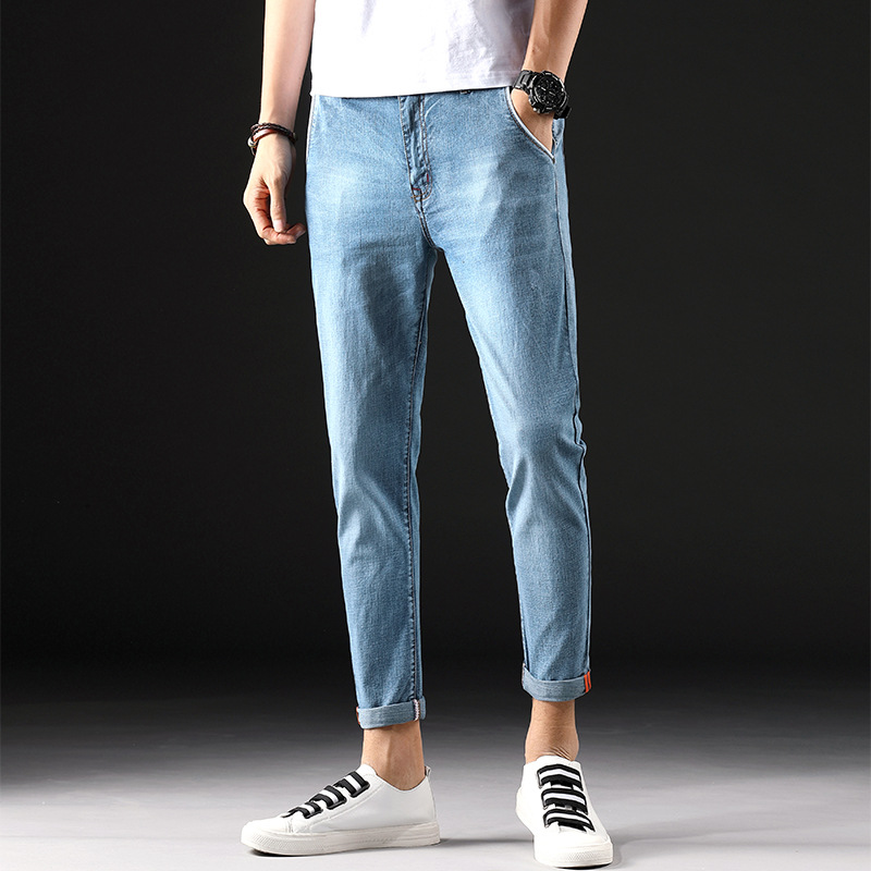 summer products mens jeans nine points pants Korean version stretch 9 points trousers mens pants and pants 933