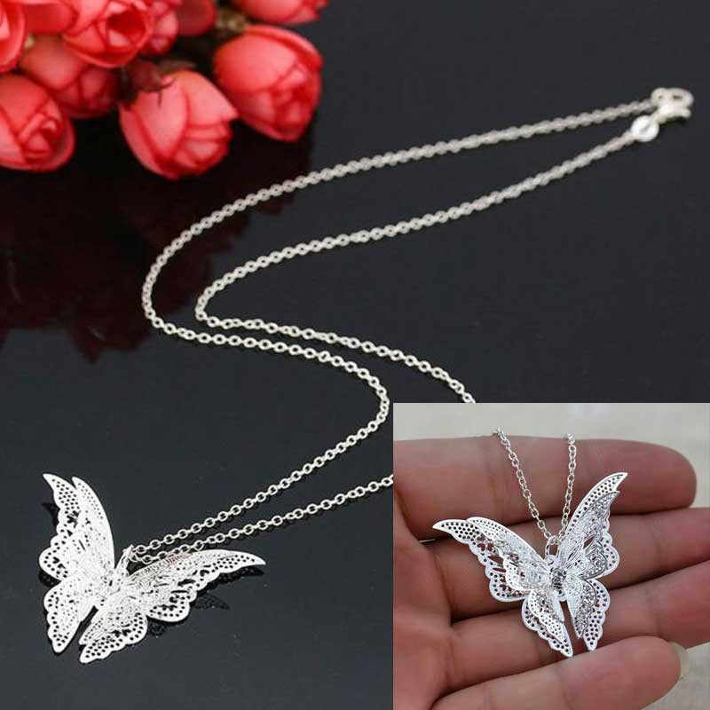 "Home&Nest 50cm+5cm/19.69""X1.97"" Women Lovely Butterfly Pendant Chain Necklace Jewelry NO Retail Box. Packed Safely in Bubble Bag"