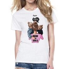 ZOGANKI New Harajuku Womens T Shirt Cartoon Printed Shirts Women Summer Casual Tee Tops Mama and Baby Print T-shirt