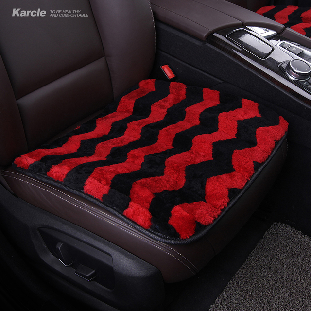 Karcle Thicken Sheepskin fur Car-Covers Woolen fur Warm Winte Car Seat Covers with Anti-skid Pad Car-styling Auto Accessories