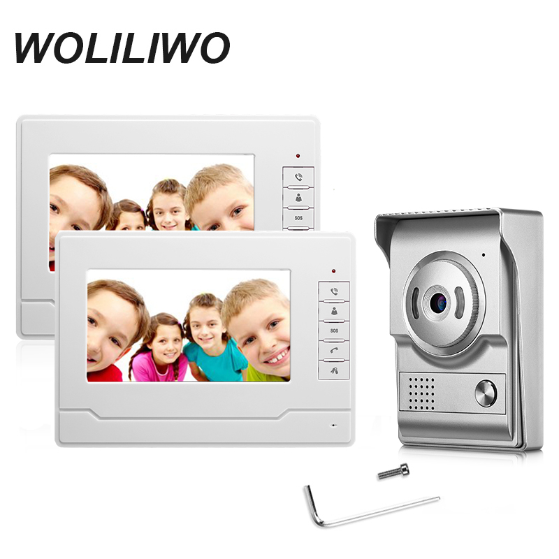 Wired Video Intercom System 7 Inch Color Video Doorbell Kit For Private Home With 700TVL Camera IR Night Vision Intercom System