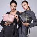 Zooler marcas saco de couro genuíno do saco das mulheres quente 2016 novo padrão serpentina das mulheres saco de ombro do couro corpo cruz #1211