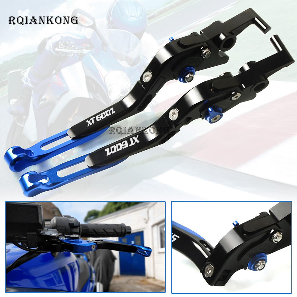 цены CNC For YAMAHA XT600Z TENERE XT 660 X R Z XT600 XT 600 E 600Z Brake Clutch Levers Adjustable Motorcycle Accessories with logo