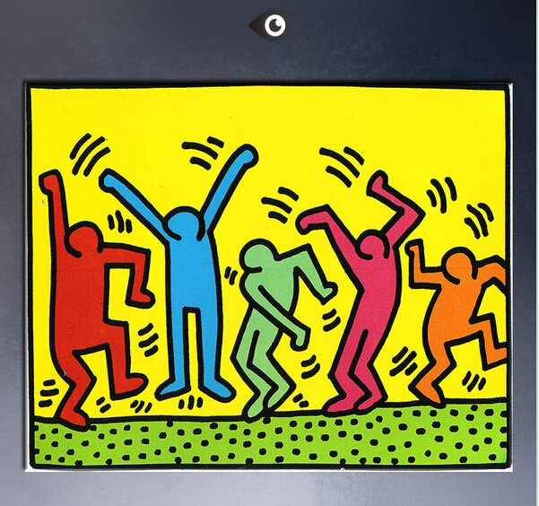 Free shipping Keith Haring's artworks hand painted on canvas POP ...