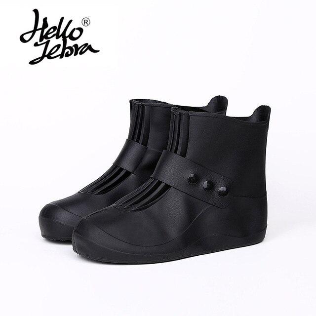 Hellozebra Women Flat Waterproof Shoe Covers Thicken Wearable Rain Shoes  Covers Outdoor Travel Shoescovers black pink grey 553c8a5b7