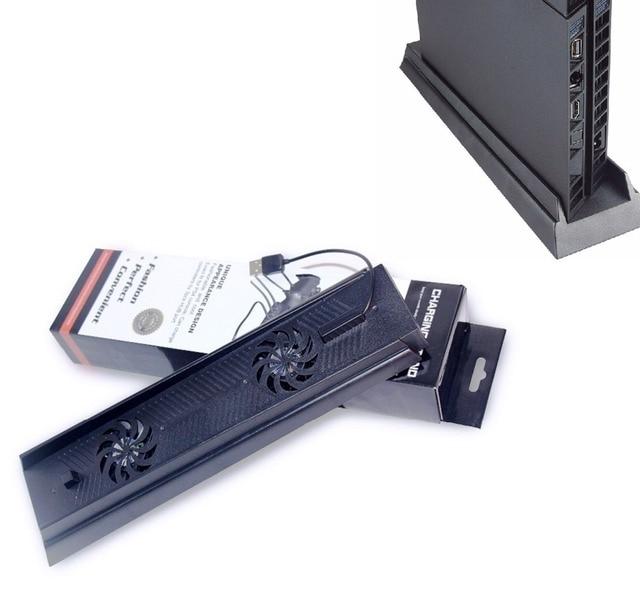 Nuevo soporte Vertical 3 HUB USB puerto ventiladores enfriador de carga soporte soporte Holder para Playstation 4 PS4 consola negro