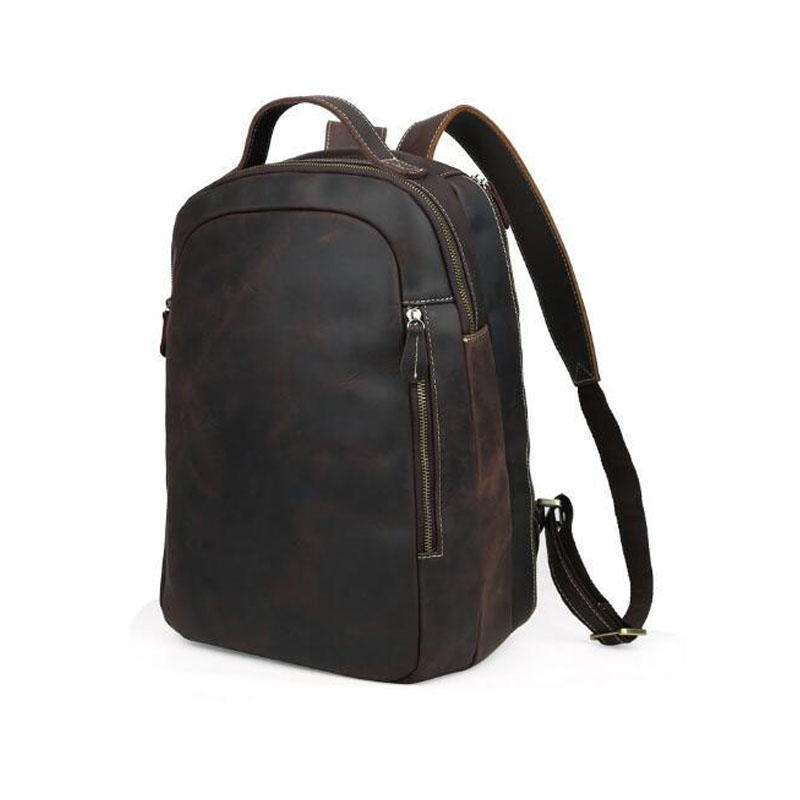 Big Capacity  Crazy Horse Leather Backpack genuine cow leather 16 Laptop backpack men school backpack bags male mochila Big Capacity  Crazy Horse Leather Backpack genuine cow leather 16 Laptop backpack men school backpack bags male mochila