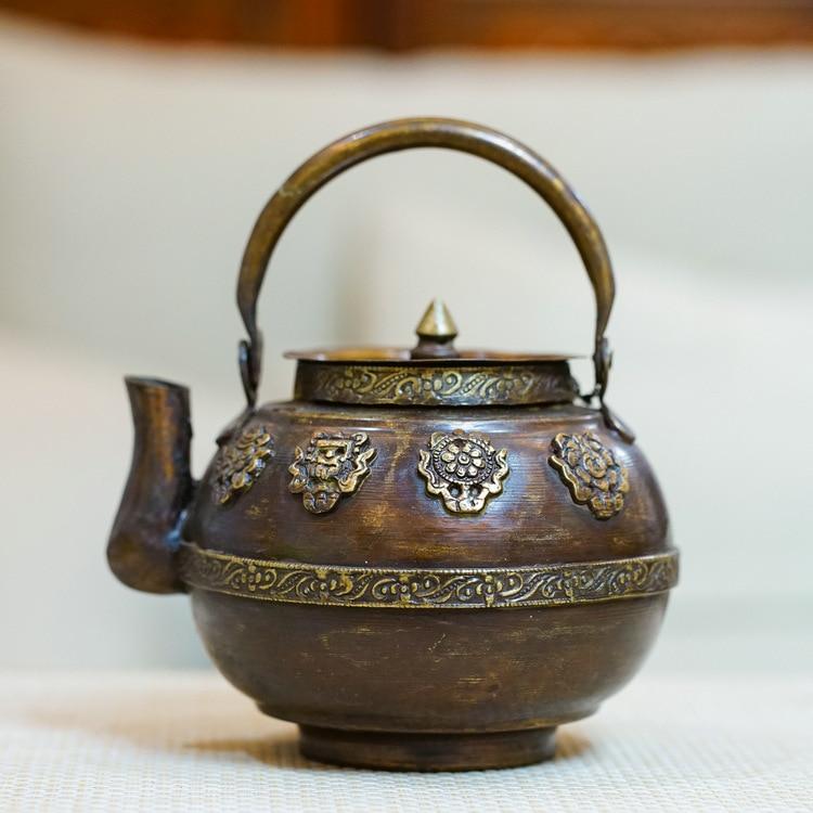 Lezhu import Copper Brass Teapot Nepal copper kettle pot old
