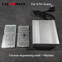LCD heating polarizer film removing mold with mini vacuum pump Vacuum degumming mold + machine New polarizer film remove mold