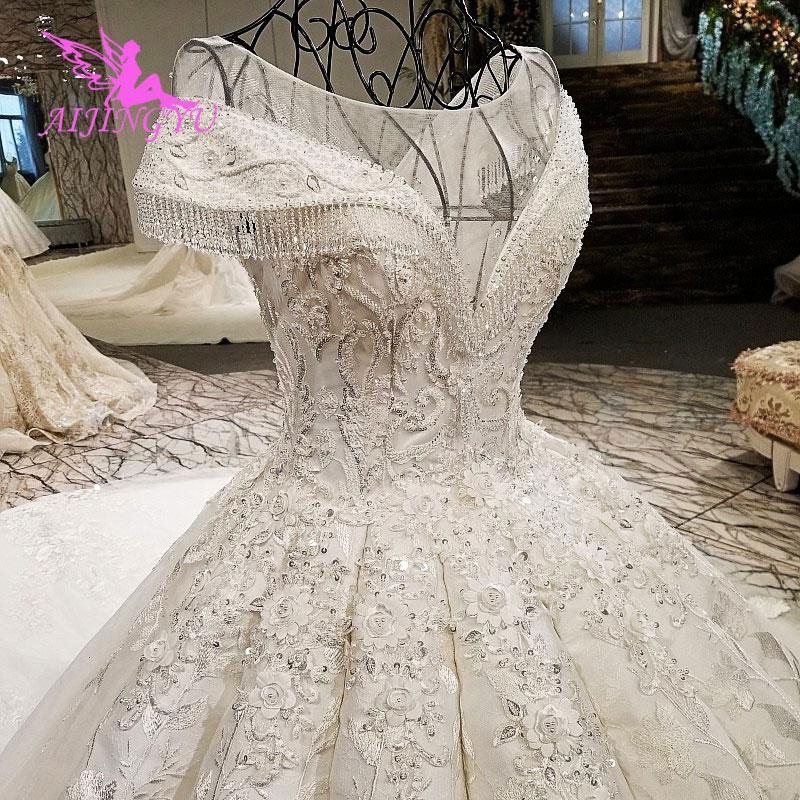 Most Beautiful Short Wedding Dresses: AIJINGYU Marvel Beads The Most Beautiful Gowns 2018 Plus