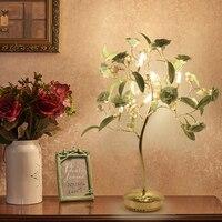 Современные СВЕТОДИОДНЫЕ спальня настольная лампа гостиной отель свадебные украшения Кристалл Настольная лампа творческий керамическая