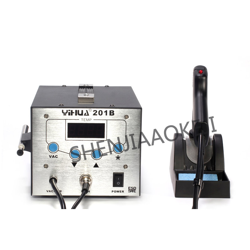 201B high frequency electric suction tin gun Anti-static suction tin gun soldering station Suck pen tin gun two in one 130W цена
