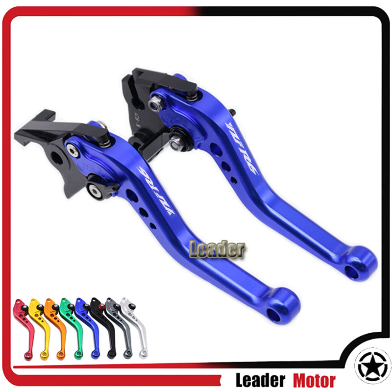 For YAMAHA YZF-R6 YZF R6 YZFR6 1999 2000 2001 2002 2003 2004 Motorcycle Accessories Short Brake Clutch Levers LOGO YZF-R6 for yamaha yzf r125 2008 2011 motorcycle accessories aluminum short brake clutch levers red