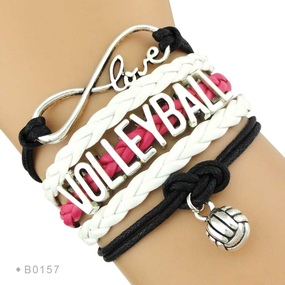 Trendy Infinity Love Volleyball Sports Fans Gift Jewelry ...