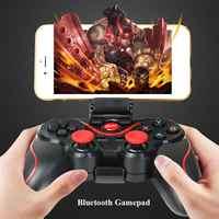 [Genuino] T3 Bluetooth inalámbrico Gamepad S600 STB S3VR controlador de juegos Joystick para teléfonos móviles Android IOS juego de PC manejar