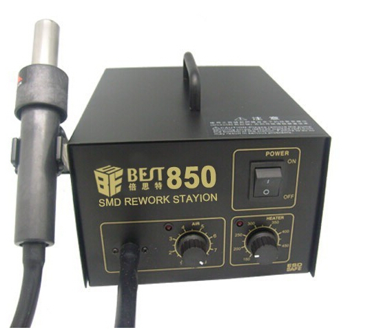 цена на 500W lead free desoldering station BEST-850 hot air gun with Directly Wind SMD rework station