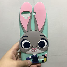 Luxury 3D Cute Cartoon Cover For Huawei Honor 4C Rabbit Case Silicon Gel Rubber Fundas For Huawei Honor 4C etui 5.0