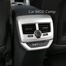 For Peugeot 5008 5008 GT 2017 2018 ABS Matte Interior Armrest Box Rear Air Vent Outlet Cover Trim 1pcs Car Styling Accessories