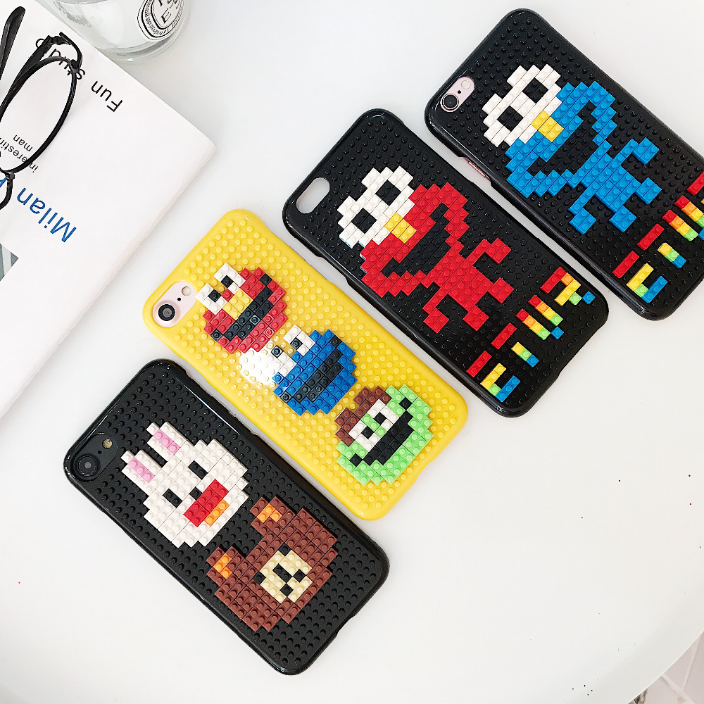 DIY Case For iPhone XS Max X 7 8 Plus 3D DIY Legos Blocks Brick Cover For Huawei P10 Plus Xiaomi 6 Hard Plastic Back For S7 edge レゴ iphone ケース