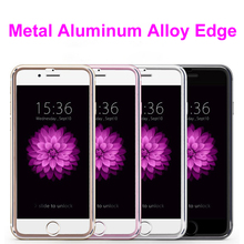 300pcs/lot 10D Aluminum Edge Tempered Glass For iPhone 6 7 8 Plus Full Cover Alloy Frame For iPhone X XR XS MAX Round Edge