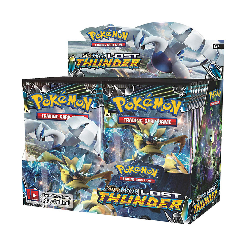 36 Packs Per Box Pokemon TCG English Edition Card Pikamon Pokemon Sun & Moon Lost Thunder Supplement Pack Kids Toy Gift image