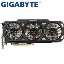 Gigabyte placa gráfica original gtx 760 2gb, 256bit gddr5 placas de vídeo para nvidia placas vga geforce gtx760 hdmi dvi jogo usado usado