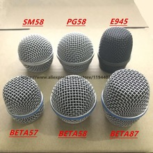 10pcs Top Quality New Replacement Ball Head Mesh Microphone Grille for  Shure BETA58 SM58 PG58 BETA57 BETA87 E945 Accessories