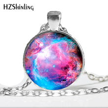 Galaxy Necklace Nebula Jewelry Orion Universe Pendant Gifts For Men Art Photo Glass Cabochon Necklaces Nebula Galaxy HZ1