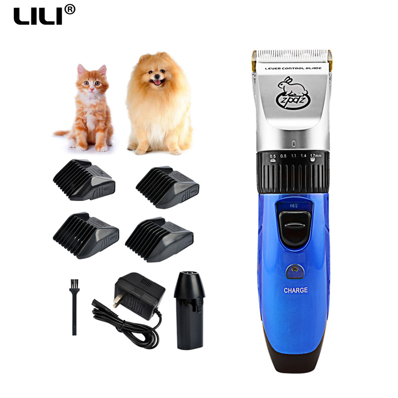 110-240V LILI Professional pet hair cutter Electric cat Pet trimmer Shaver pet grooming haircut machines hair clipper for dogs 110 240v professional hair steam