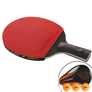 Image 3 - מקצועי טניס שולחן בת Trianing שולחן טניס להב מחבטי ארוך קצר ידית פינג פונג משוט מחבט עם לשאת תיק