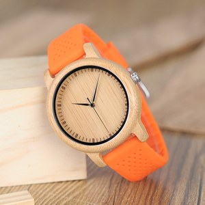 Image 3 - BOBO BIRD Causal Bamboo Watches for Men and Women Bright Silicon Band montre femme plastique
