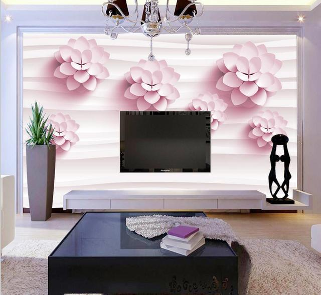 floral photo wallpaper for walls 3 d wall papers living room sofa