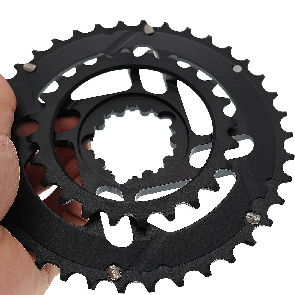 Mountain bike Road Bicycle Full CNC 24T 38T Gear 10s 11s Chainwheel GXP SRAM Crankset Crank Chainring Forged Double Chain Wheel-in Bicycle Crank & Chainwheel from Sports & Entertainment    2